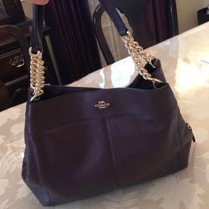 COACH Lexy chain shoulder bag/ Metallic Raspberry